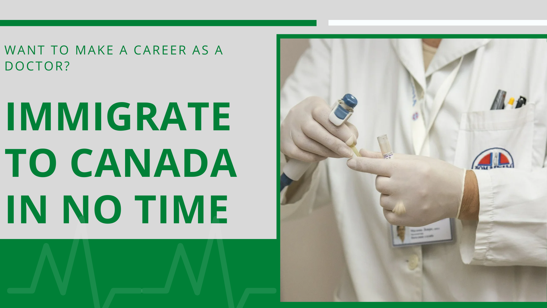 Want to make a career as a doctor? Immigrate to Canada in no time