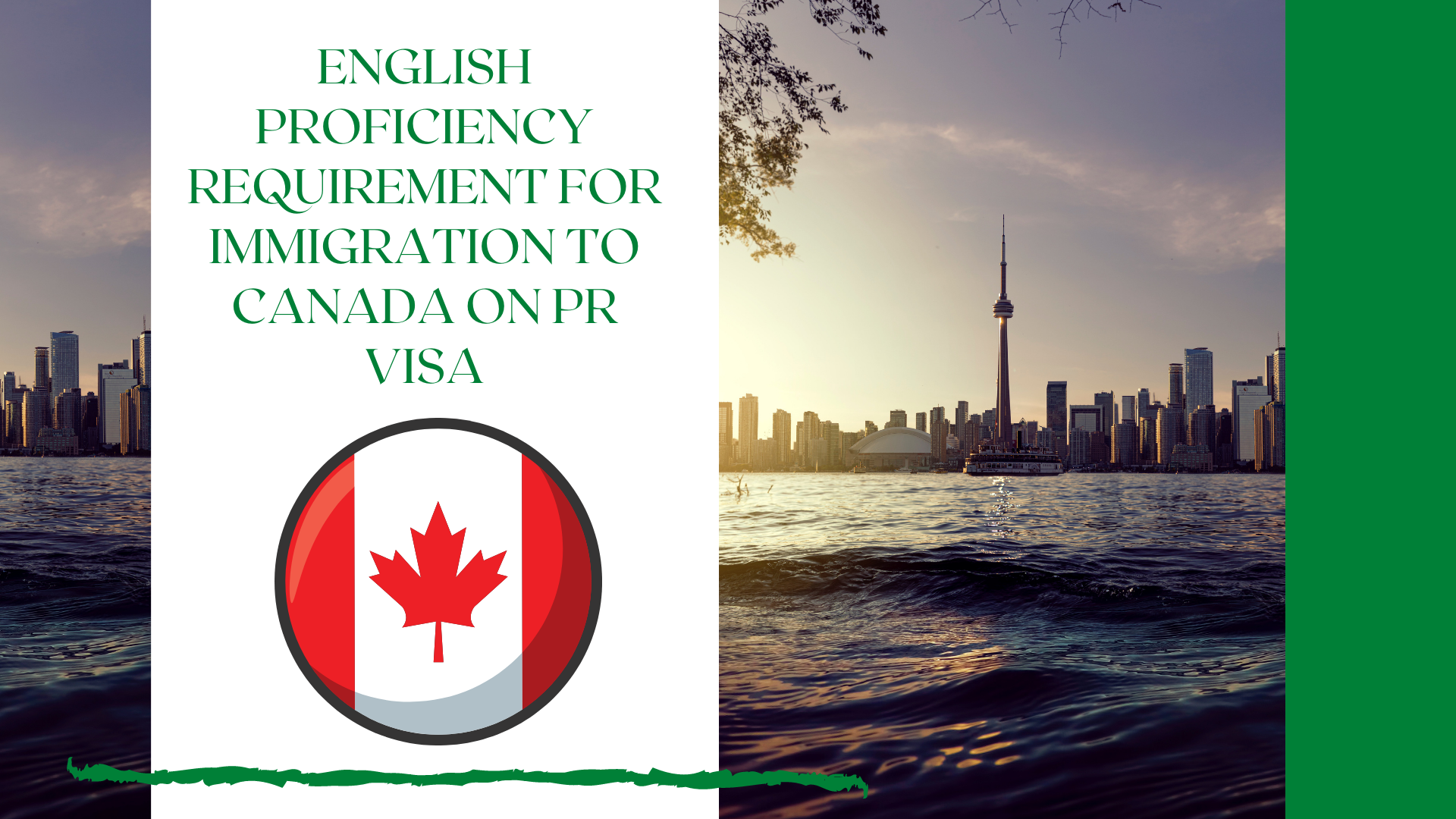 What should be the English proficiency for Canada immigration on PR Visa?