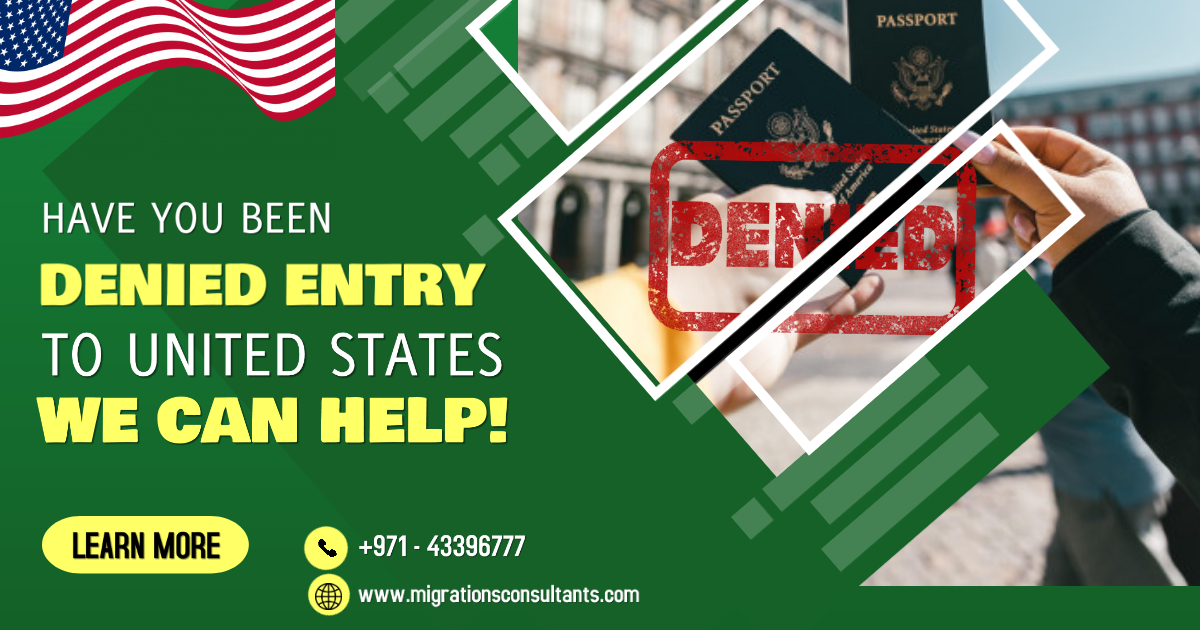 Contact a US Immigration Consultant if your Entry in the US is Denied