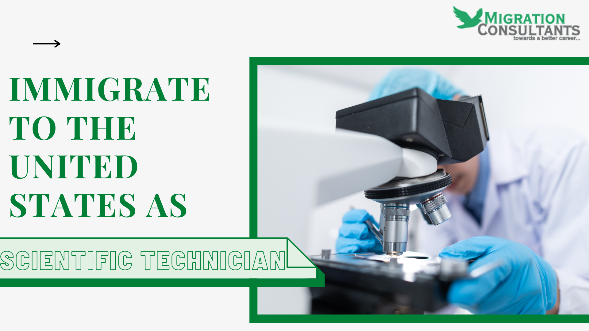 How do you immigrate to the United States as a Scientific Technician?