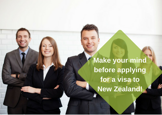 Make your mind before applying for a visa for New Zealand!
